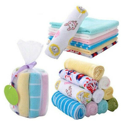 Baby Face Washers Hand Towels Cotton Wipe Wash Cloth 8pcs/Pack