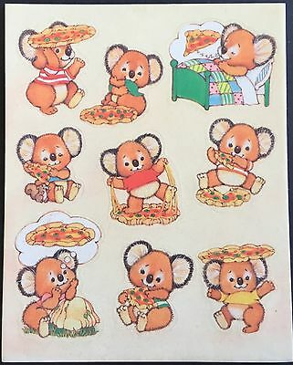 Vintage Gibson Greetings Scratch & Sniff Stickers - Pizza - Mint Condition!