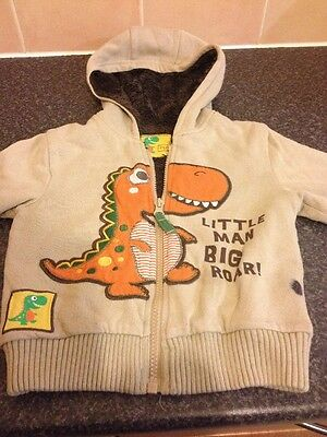 Boys Dinosaur Cosy Jacket Age 12-18 Months