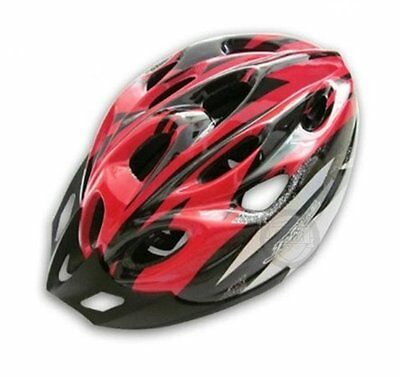 New JSZ Cycling Bicycle MTB Road Bike Adult Riding Helmet with Visor Red Black