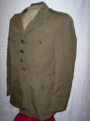 """USMC US Marine Corps Forest green WOOL """"A"""" Alpha Blouse 39R"""