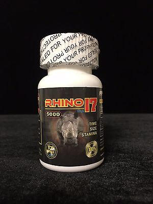 Rhino 17 Plus 5000 Male Sexual Performance Pills ( 6 Count Bottle) Free Shipping