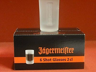 6 Verres Shooters Jagermeister 2Cl Neuf Boite Scellee