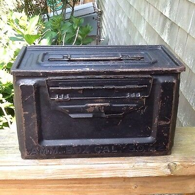 Vintage U.S. Military WWII Army 50 Cal Ammo Box M2 Ammunition J.B.S Co
