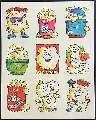 Vintage Gibson Greetings Scratch & Sniff Stickers - Popcorn - Mint Condition!