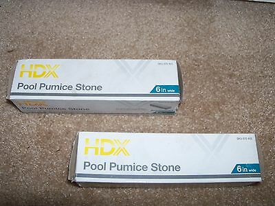 "Spa or Pool Pumice Stone 6"" Wide Set of 2. Fast Shipping! 570 402"