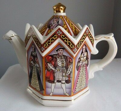 Vintage SADLER TEAPOT King Henry VIII & His Six Wives Made in England