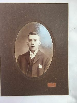 VINTAGE/ANTIQUE - PHOTOGRAPH - YOUNG MAN - PHOTO - VERY OLD - 23 X 17 cm