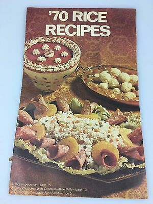 VINTAGE - 1970's RICE RECIPES BOOKLET - SUNWHITE RICE & OTHER BRANDS