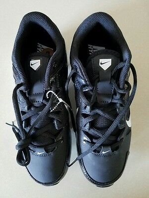 Nike Black Hyperdiamond Keystone Low Molded SOFTBALL CLEATS Women's Size 8 NEW