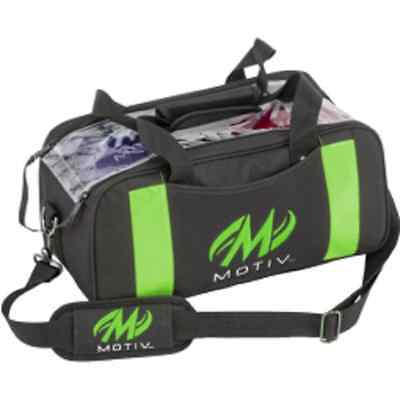 Motiv 2 Ball Shoulder Tote Bowling Bag Color Black/Green