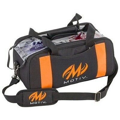 Motiv 2 Ball Shoulder Tote Bowling Bag Color Black/Orange
