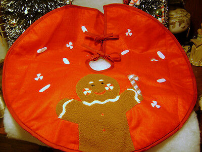 mini 18 inch Gingerbread Christmas tree skirt for table top tree