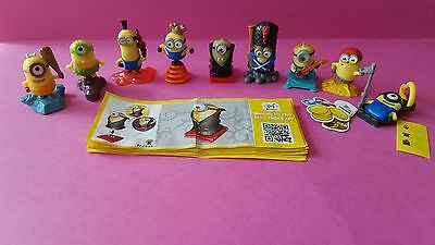 Kinder Surprise Minions Ltd Ed Complete Set Of 9 With Papers
