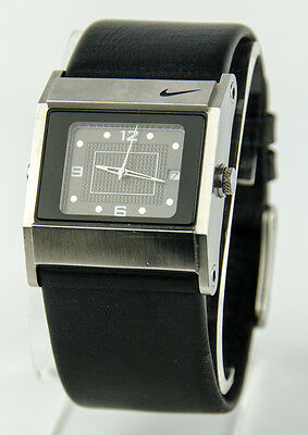 Nike Square WA0051 Stainless Steel Analog Watch - Black Face & Leather Band