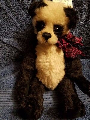 Sandy Fleming Panda Bear Fully Jointed Mohair & Wool