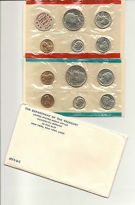 1972 US (11 Unc. Proof Like Coins) P-&-D MINT COIN SET