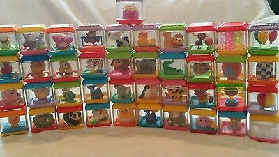 41 Fisher Price Peek A Boo Blocks Animals, Circus and more Lot
