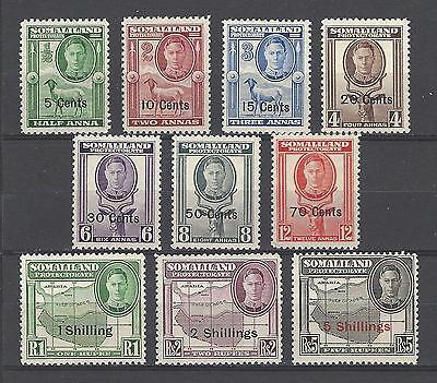 Somaliland Protectorate 1951 Sc#116//26 Definitive Short Set-New Values MHLH $36