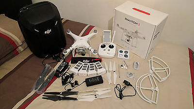 DJI Phantom 3 Advanced with 3 spare batteries, hard case and accessories
