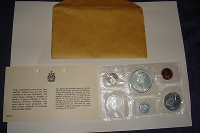 Canada 1867-1967 UNCIRCULATED Set Silver Dollar Royal Canadian Mint Envelope COA