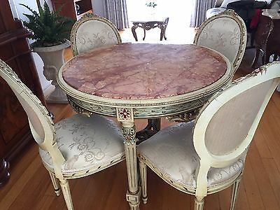 Antique French Table And Chairs