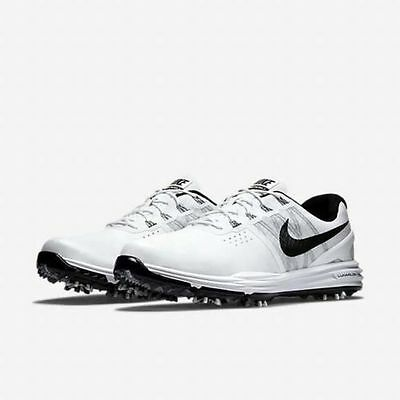 Nike Lunar Control 3 Golf Shoes Men's US 8.5 White Black 704665-101 NEW $169