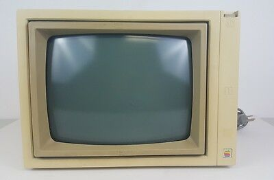 Vintage Apple lle Computer Monitor CRT Display Model A2M2010-Working!