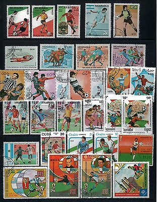 SPORTS Mixed Lot of 44 Stamps from Different Countries  CTO  -  2 Scans