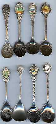 8 Different Odd Ball Shaped Souvenir Spoons