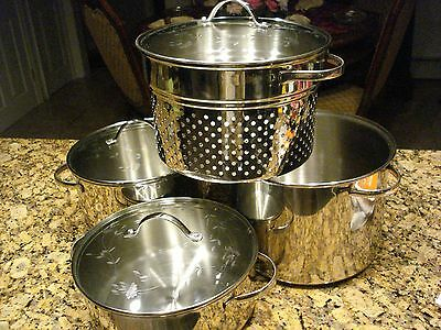 Princess House Heritage Stainless Steel Classic Starter Set New No Box