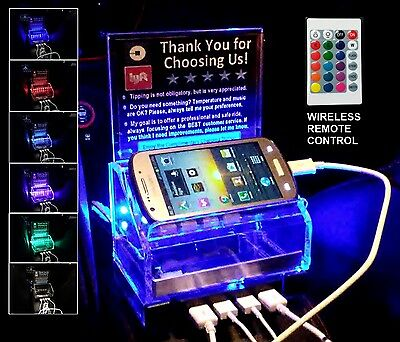 Rideshare FAST Charging Station Tip Box Remote Control LED light Uber Lyft sign