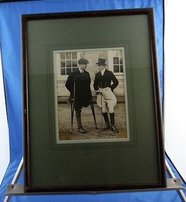 RARE Signed Edward VIII Photo with World War 1 WW1 Veteran One of a Kind Photo