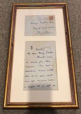 Unique Prince Of Wales Framed King Edward VIII Signed Personal Letter Preston