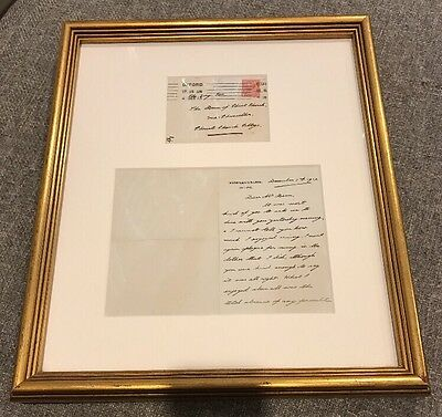 Exquisite Framed King Edward VIII Signed Personal Letter Oxford Authentic POW