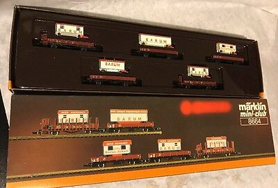 Marklin Z Scale 8664 BARUM Circus Wagon Train Car Set In Box!