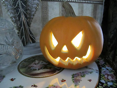 Halloween Plastic Light up pumpkin