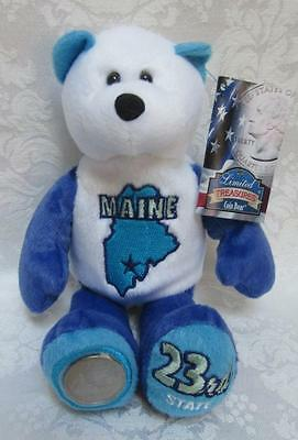 Limited Treasures State Quarters Coin Teddy Bear Maine #23