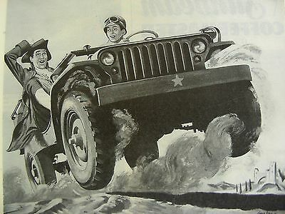 Willys MB, Willys Jeep, Revere Copper and Brass, WW2 Life Magazine Advertisment