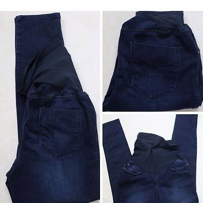 A PEA IN THE POD Secret Fit Belly Maternity Jeans Dark Tag=L Actual=approx 29x30
