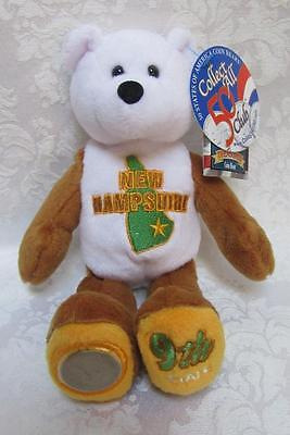 Limited Treasures State Quarters Coin Teddy Bear New Hampshire #9