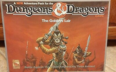 Vtg Dungeons and Dragons The Goblin's Lair Board Game Fantasy Great Cond