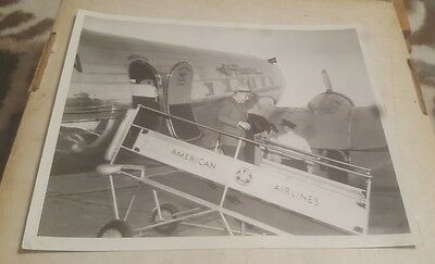 "Vintage 8"" x 10"" photograph of American Airlines Flagship Baltimore Tarmac DC-3"
