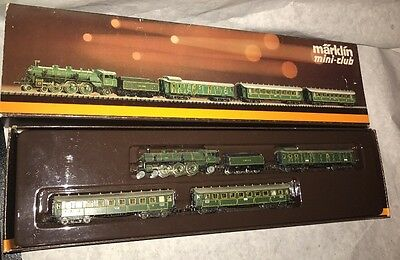 Marklin Z Scale 8102 Bavarian Express Passenger Train W Locomotive In Box!