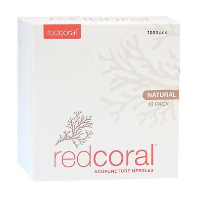 Red Coral Acupuncture Needles x 1000 pcs | Natural | PREMIUM | Clinic Preferred