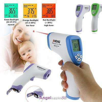 Digital Infrared Body Thermometer Forehead Baby Adult Surface Temperature 10-40C