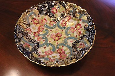 Large Asian Ornate Decorative Hand Painted Bowl