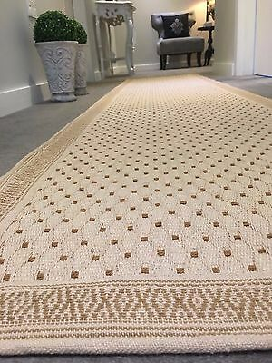 KITCHEN RUG BEIGE Multi purpose DHURRIE Hand Made COTTON Runner 60x270 Bath