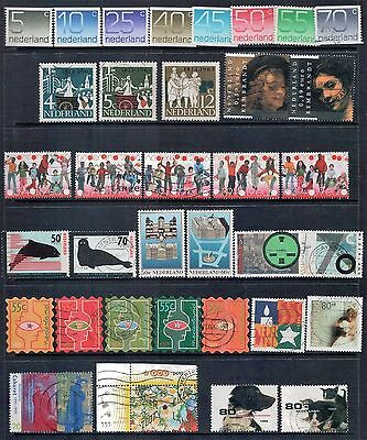 Netherlands Mixed Lot of 35 Stamps most Fine to Good Used LH, few MLH