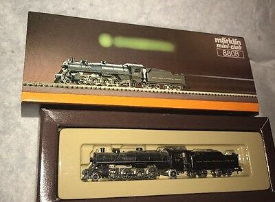 Marklin Z Scale 8808 New York Central Steam 4-8-2 Locomotive & Tender +Box